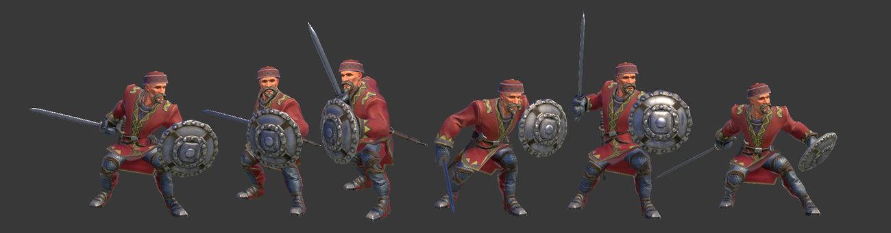 ხევსური მებრძოლების საბრძოლო ფორმები